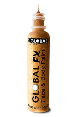 Global FX Face Painting Glitter Gel - Gold 36ml/1.2oz - Jest Paint Store