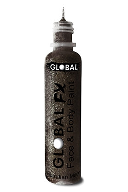 Global FX Face Painting Glitter Gel - Jet Black 36ml/1.2oz - Jest Paint Store
