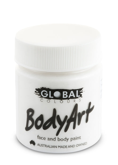 Global Body Art Face Paint - Liquid White 45ml - Jest Paint Store