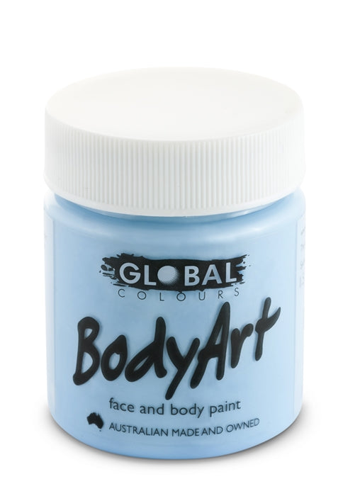 Global Body Art Face Paint - Liquid Light Blue 45ml - Jest Paint Store