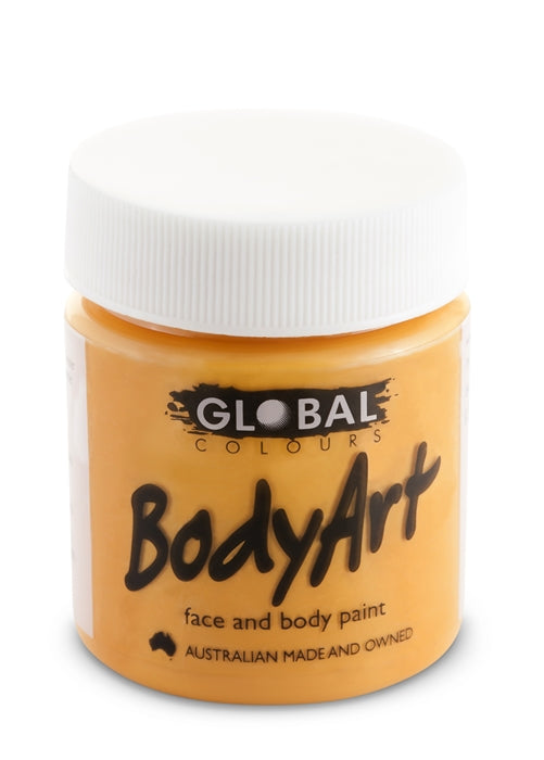 Global Body Art Face Paint - Liquid Orange 45ml - Jest Paint Store