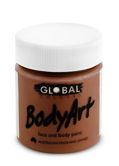 Global Body Art Face Paint - Liquid Brown 45ml - Jest Paint Store