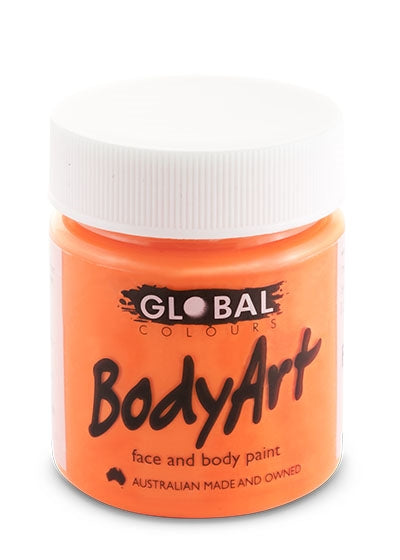 Global Colours Paint - Liquid Fluorescent Orange 45ml - Jest Paint Store