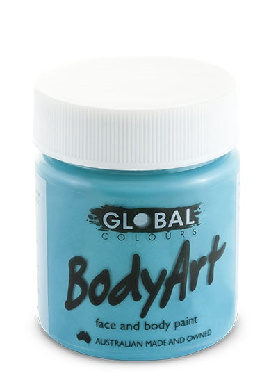 Global Body Art Face Paint - Liquid Turquoise 45ml - Jest Paint Store