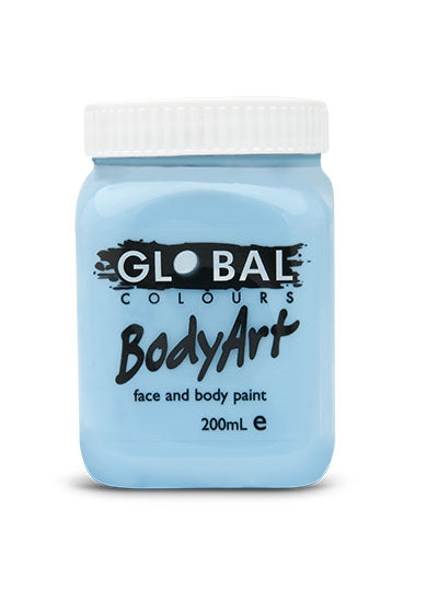 Global Body Art Face Paint - Liquid Light Blue 200ml - Jest Paint Store