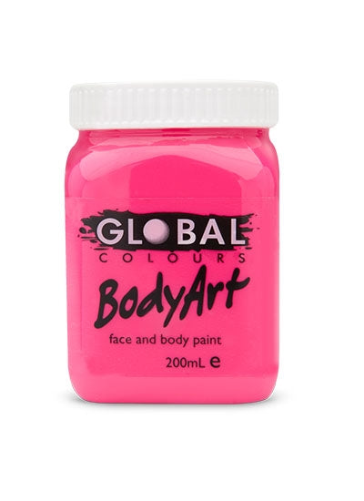 Global Colours Paint - Liquid Fluorescent Pink 200ml - Jest Paint Store