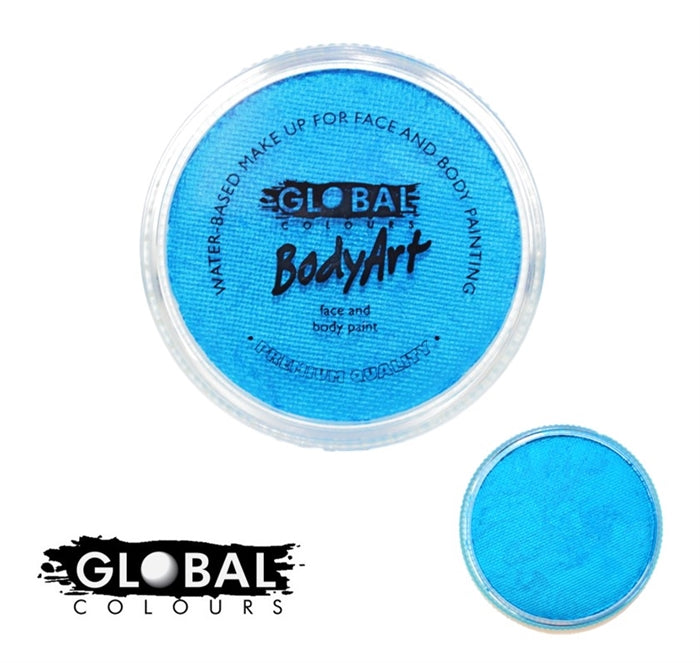Global Body Art Face Paint - Pearl Blue 32gr - Jest Paint Store
