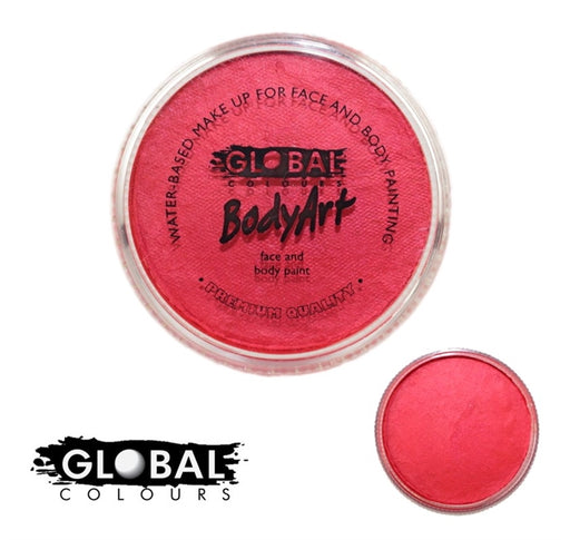Global Body Art Face Paint - Pearl Red 32gr - Jest Paint Store