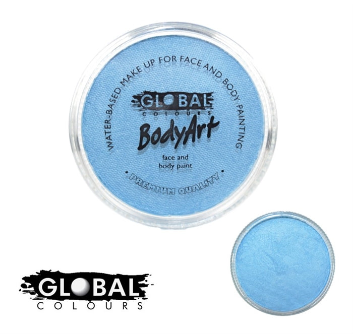 Global Body Art Face Paint - Pearl Baby Blue 32gr - Jest Paint Store