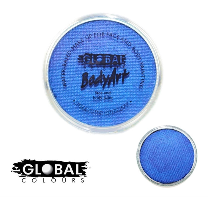 Global Body Art Face Paint - Pearl Deep Blue 32gr - Jest Paint Store