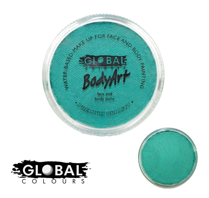 Global Body Art Face Paint - Pearl Green 32gr - Jest Paint Store