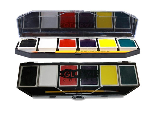 Global Body Art Face Paint -  6 Color Standard Palette - Jest Paint Store
