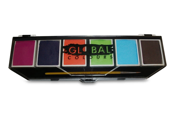Global Body Art Face Paint - 6 Color Caribbean Palette - Jest Paint Store