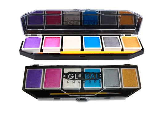 Global Body Art Face Paint - 6 Color Pearl Palette - Jest Paint Store