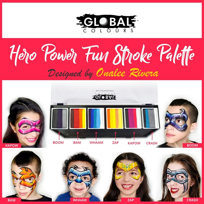 Global Fun Stroke Paint Palette - Hero Power by Onalee Rivera - Jest Paint Store