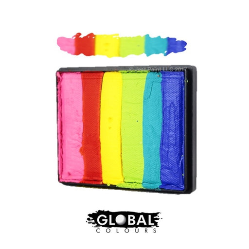 Global Body Art  Face Paint - Rainbow Cake Bright Rainbow 50gr - Jest Paint Store