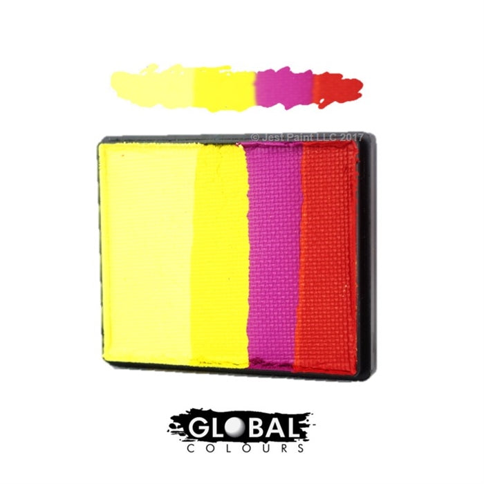 Global Body Art Face Paint  | Rainbow Cake - Spain 50gr - Jest Paint Store