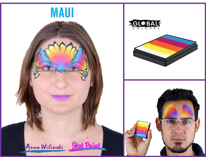 Global Body Art Face Paint  | Rainbow Cake - Maui 50gr - Jest Paint Store