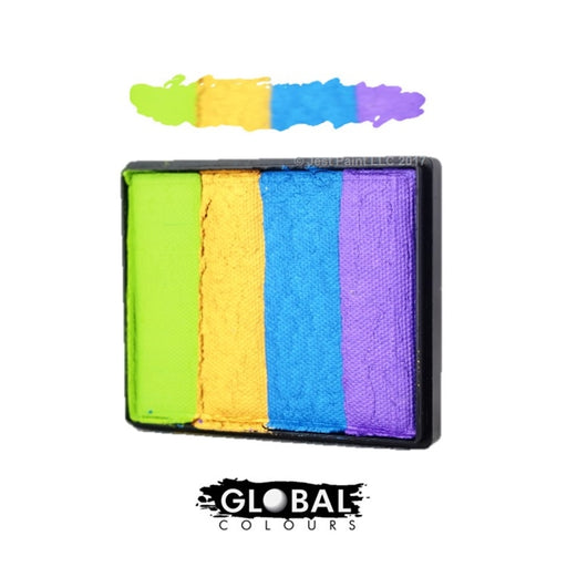 Global Body Art Face Paint  - Rainbow Cake French Quarter 50gr - Jest Paint Store