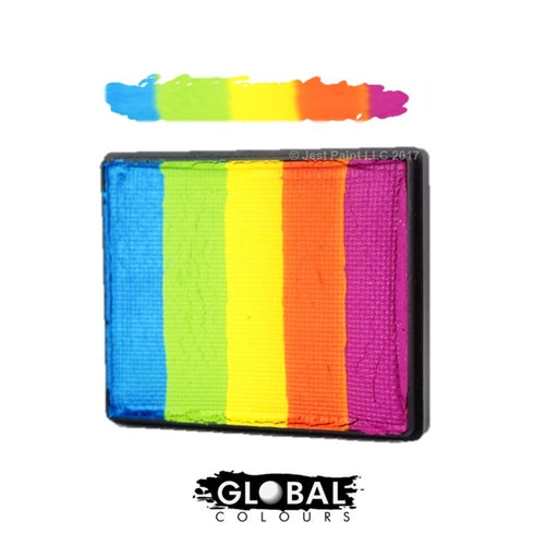 Global Body Art Face Paint - Rainbow Cake New Delhi 50gr - Jest Paint Store