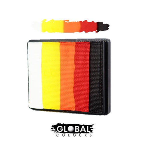 Global Body Art Face Paint - Rainbow Cake Mojave 50gr - Jest Paint Store
