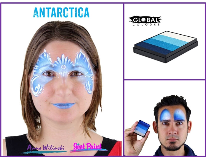 Global Body Art Face Paint - Rainbow Cake Antarctica 50gr - Jest Paint Store