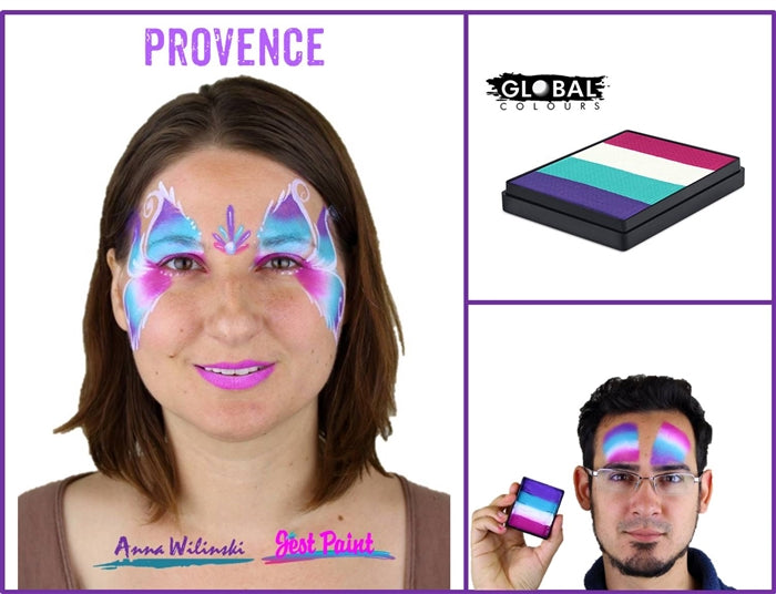 Global Body Art Face Paint - Rainbow Cake Provence 50gr - Jest Paint Store