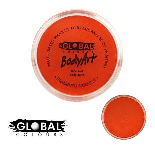 Global Body Art Face Paint - Standard Orange 32gr - Jest Paint Store