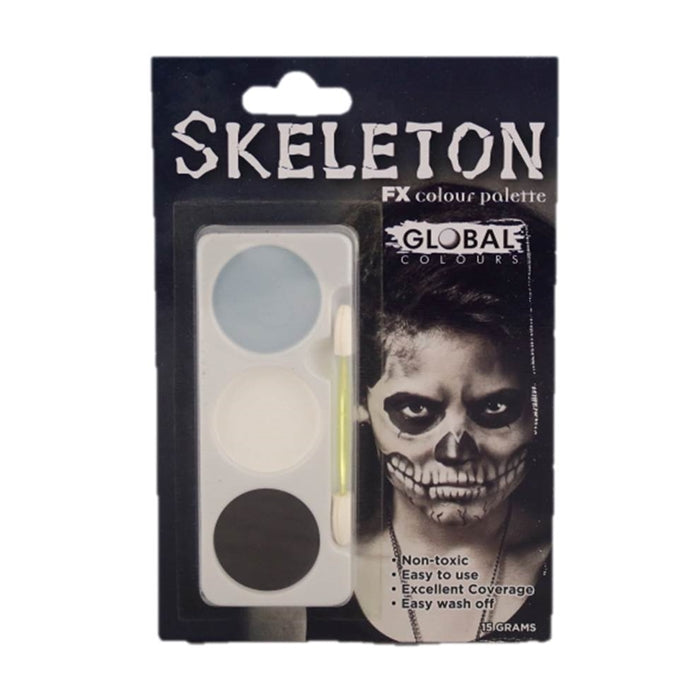 Global Body Art - Skeleton FX Colour Palette - Jest Paint Store