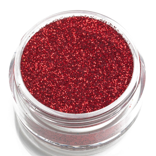 Glimmer Body Art Face Paint Glitter Jar - Red - 7.5gr - Jest Paint Store