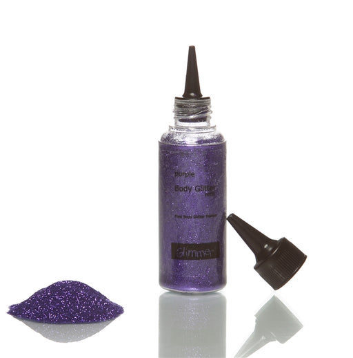 Glimmer Body Art Face Paint Glitter Refill Bottle - Violet - 1.5oz - Jest Paint Store