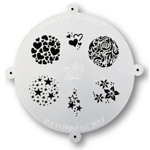 Galaxy TAP Face Painting Stencil - Fanciful