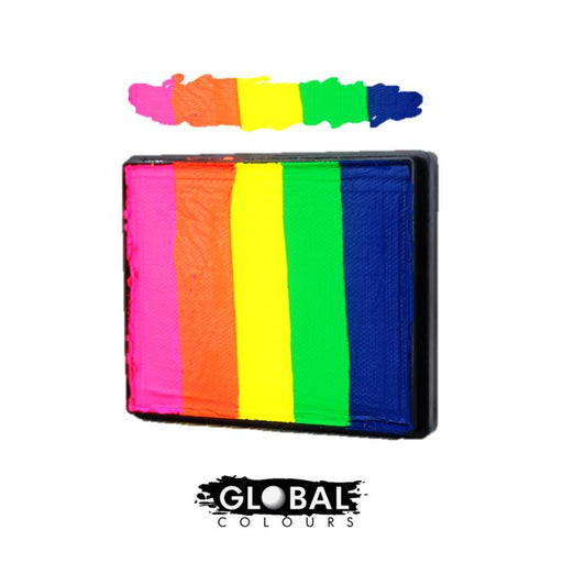 Global Colours | Rainbow Cake - Neon Rainbow  50gr - Jest Paint Store