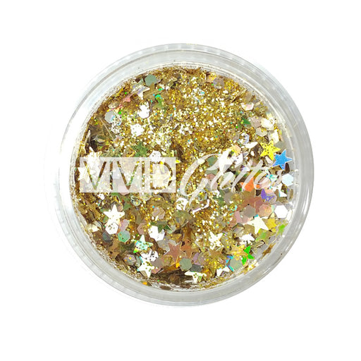 VIVID Glitter | Loose Chunky Hair and Body Glitter | Gold Dust (7.5gr) - Jest Paint Store
