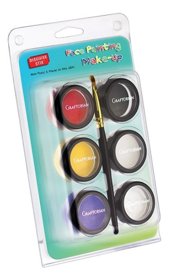 Graftobian Make Up Kit - 5 Color Primary Face Painting Makeup Kit