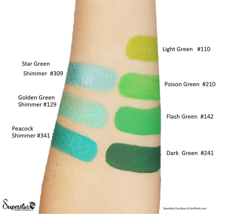 Superstar Face Paint  Swatches greens