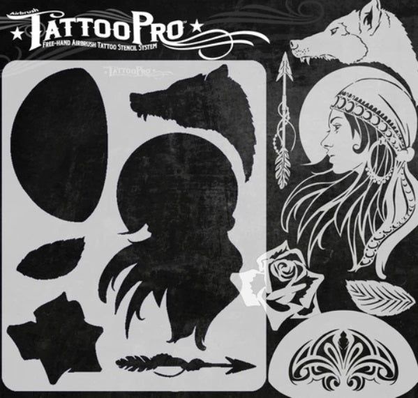 Tattoo Pro | Air Brush Body Painting Stencil - Gypsy Girl