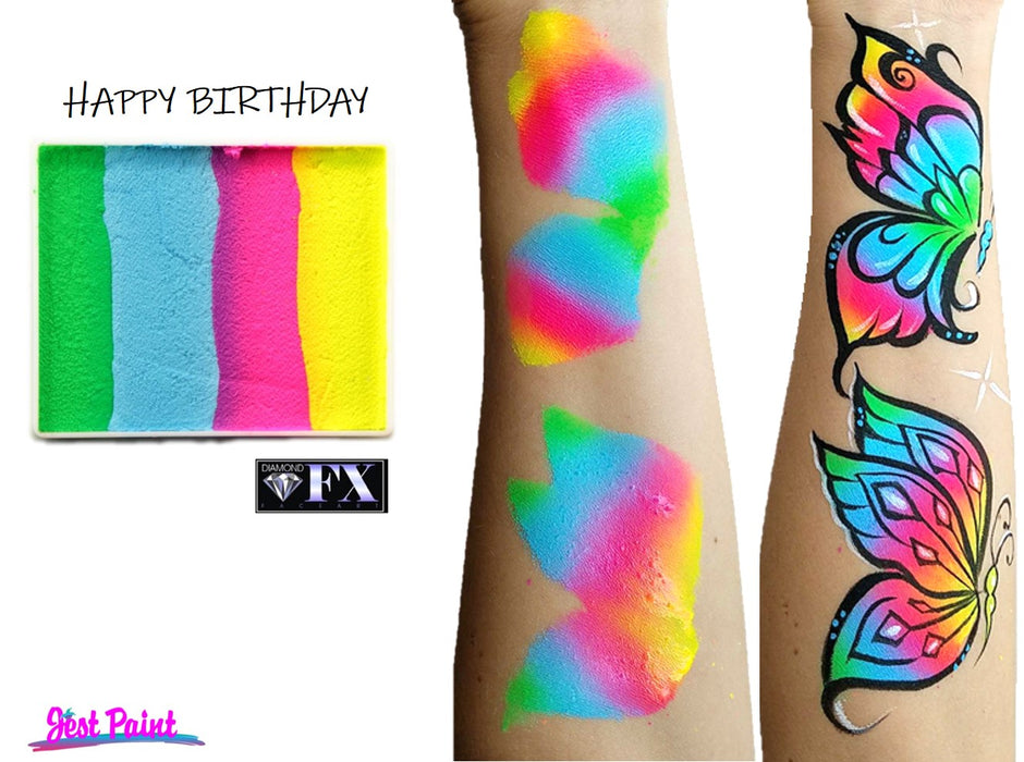 DFX Paint Rainbow Cake - Large Happy Birthday (RS50-98) #18