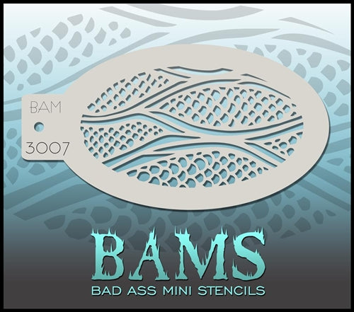 Bad Ass Mini 3007 - Face Painting Stencil - Fish Scales - Jest Paint Store
