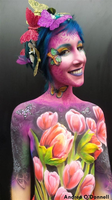 Bad Ass Body Painting Stencil - Flutter - Jest Paint Store