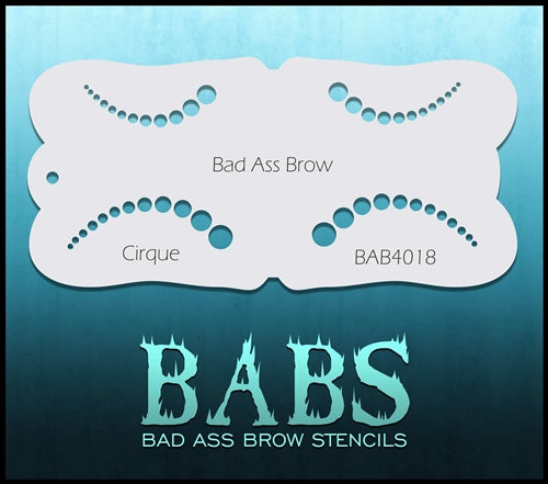 Bad Ass Brows 4018 - Face Painting Stencil - Cirque - Jest Paint Store