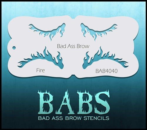 Bad Ass Brows 4040 - Face Painting Stencil - Fire - Jest Paint Store