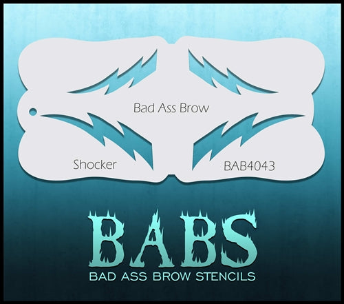 Bad Ass Brows 4043 - Face Painting Stencil - Shocker - DISCONTINUED - Jest Paint Store