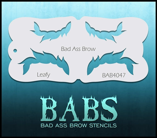 Bad Ass Brows 4047 - Face Painting Stencil - Leafy - Jest Paint Store