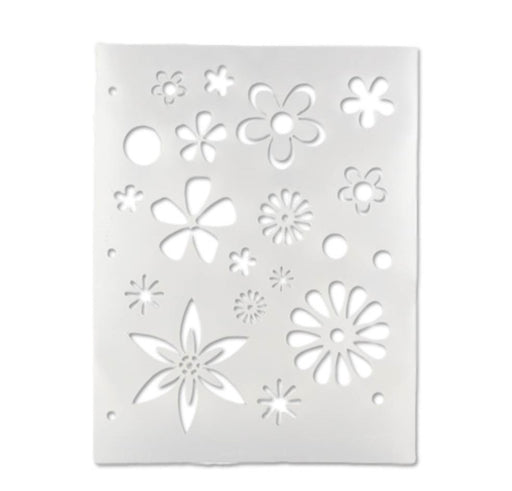 Vargas Stencil - Body Painting Stencil - Flowers (0329) - Jest Paint Store