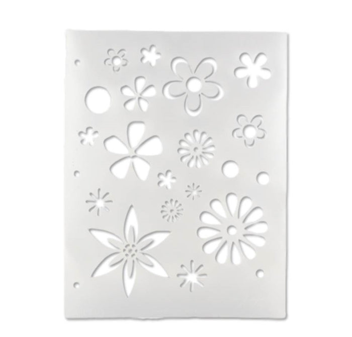 Vargas Stencil - Body Painting Stencil - Flowers (0329) - DISCONTINUE - Jest Paint Store