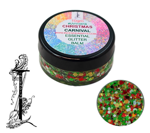 Incendium Arts | Essential Glitter Balm - CHRISTMAS CARNIVAL - 10gr
