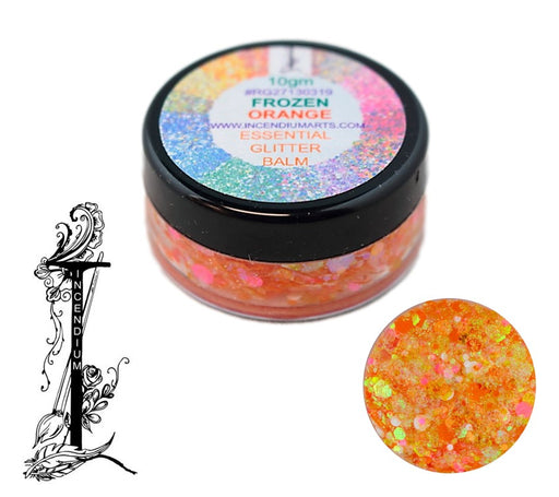 Incendium Arts | Essential Glitter Balm - FROZEN ORANGE - 10gr