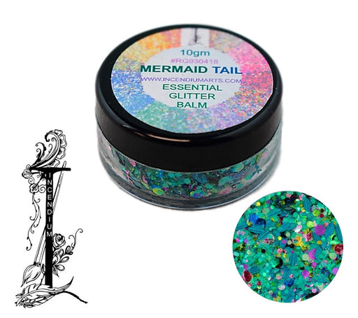 Incendium Arts | Essential Glitter Balm - MERMAID TAIL - 10gr