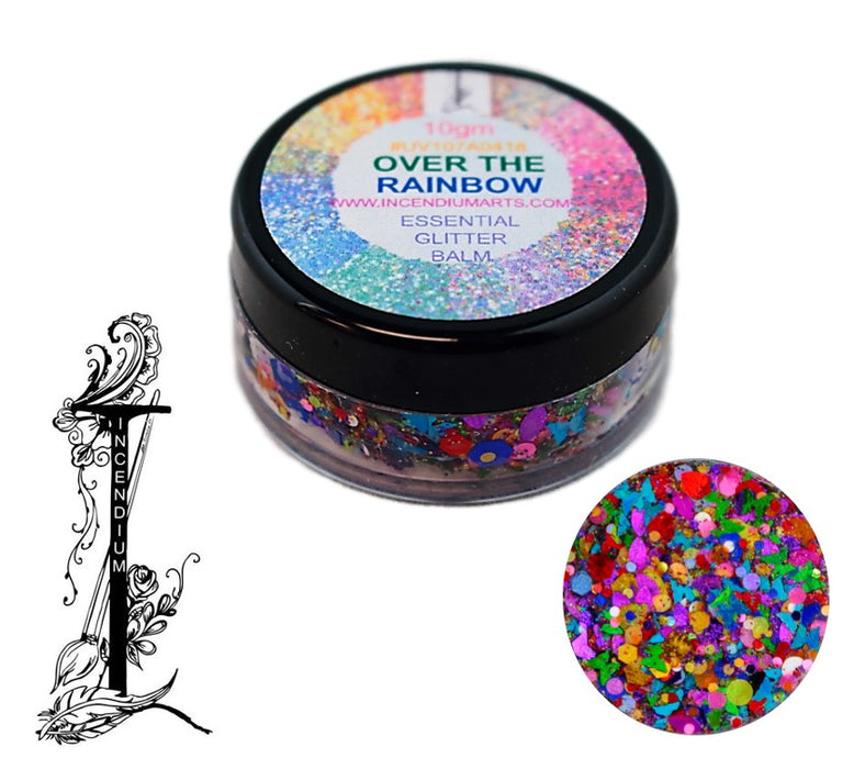 Incendium Arts | Essential Glitter Balm - OVER THE RAINBOW - 10gr - Jest Paint Store
